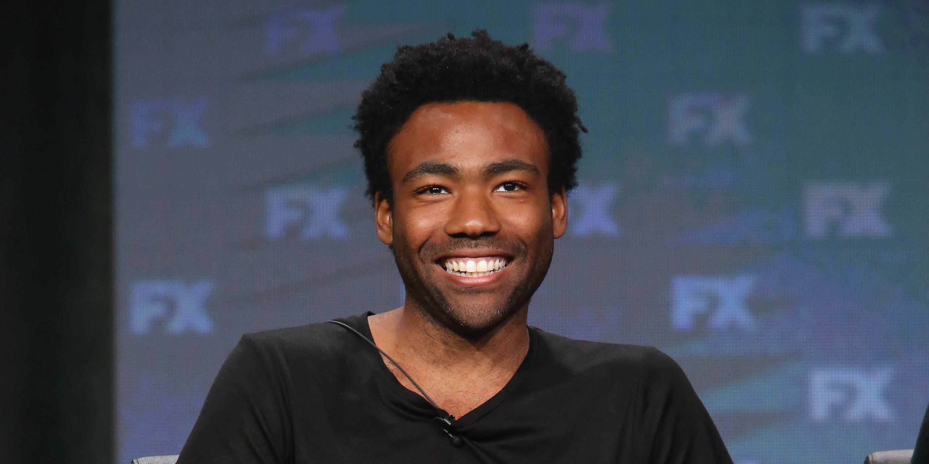 BEVERLY HILLS, CA - AUGUST 09:  Creator/executive producer/writer/actor Donald Glover speaks onstage at 'Atlanta' panel discussion during the FX portion of the 2016 Television Critics Association Summer Tour at The Beverly Hilton Hotel on August 9, 2016 in Beverly Hills, California.  (Photo by Frederick M. Brown/Getty Images)