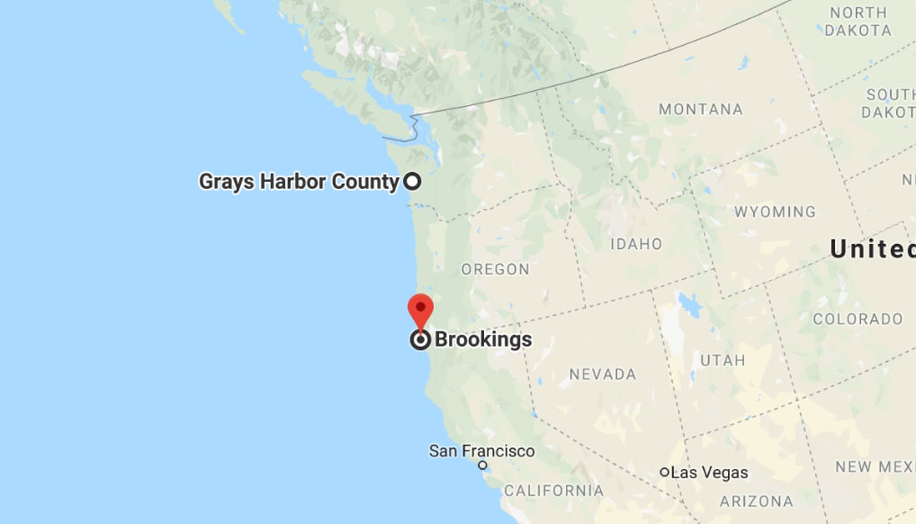 Gray's Harbor and Brookings.
