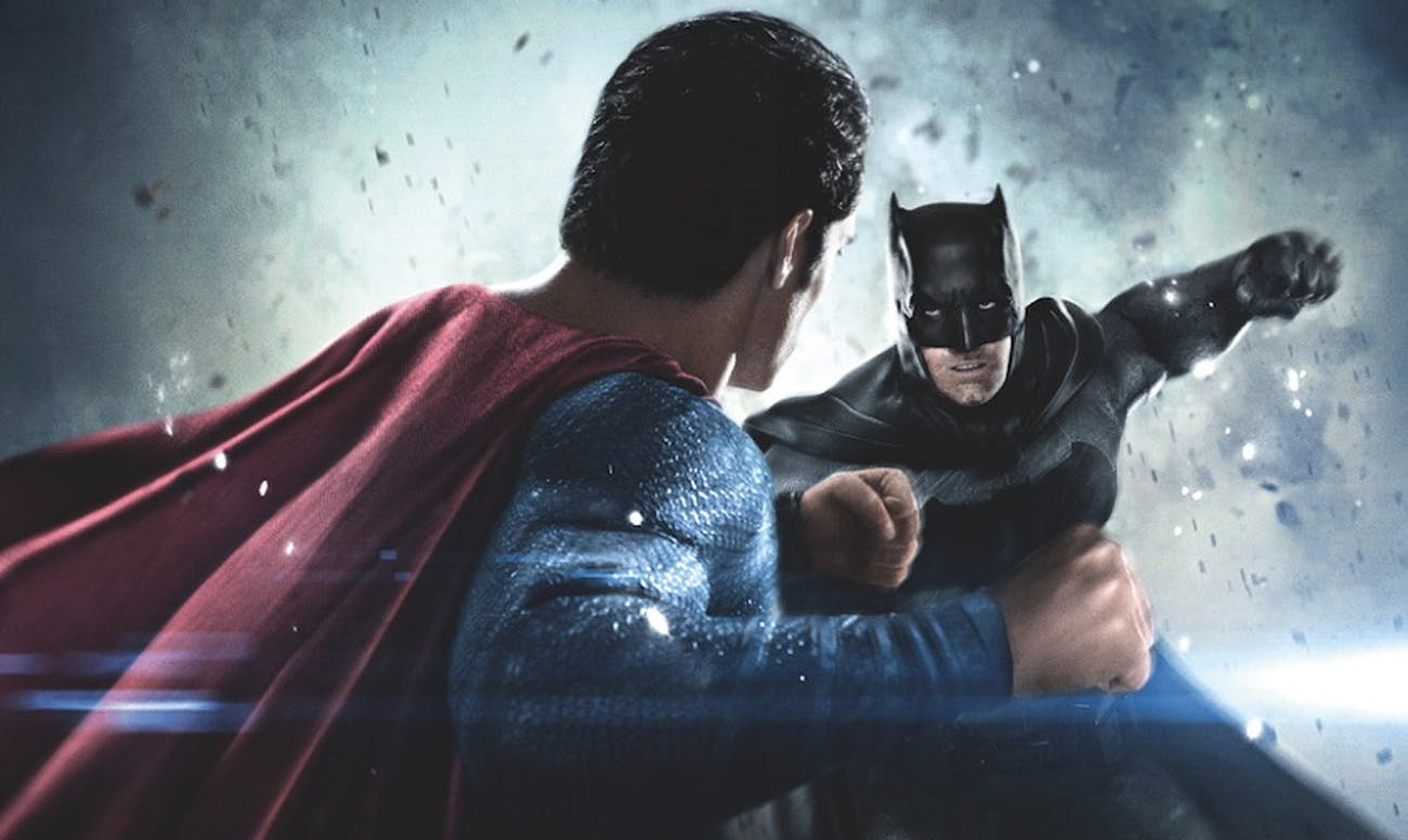 Batman V Superman fight punch