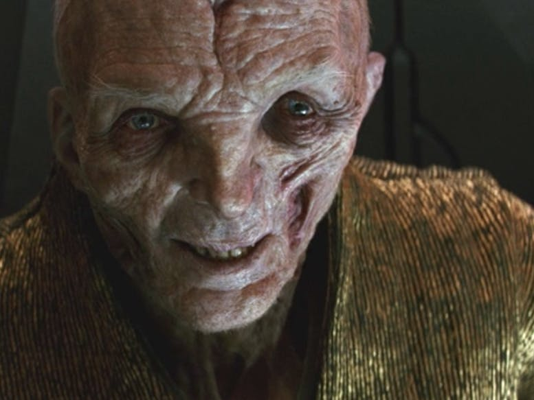 Supreme Leader Snoke in 'The Last Jedi'