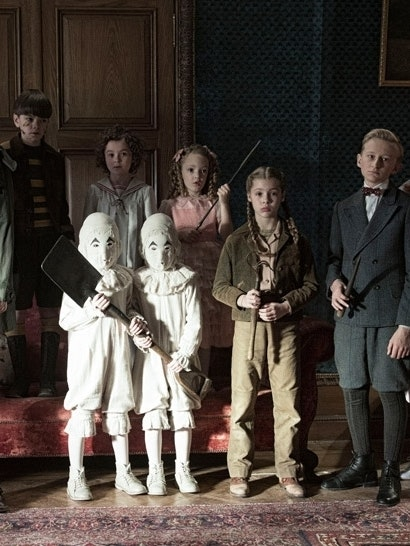 The young cast of *Miss Peregrine's Home for Peculiar Children""