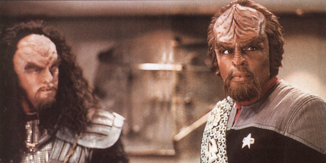 Captain Picard and Worf in 'Star Trek: The Next Generation'