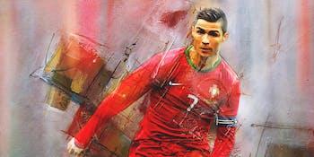 Portugal's Cristiano Ronaldo as seen through the mind of artist Gull G.