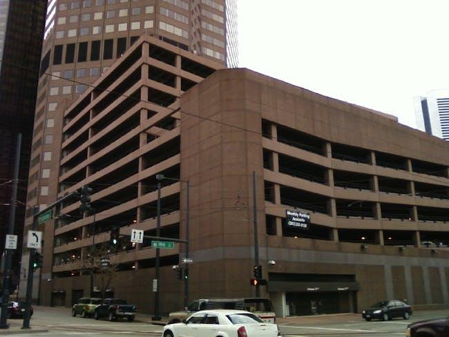 A parking garage in Denver. It sure looks like something!