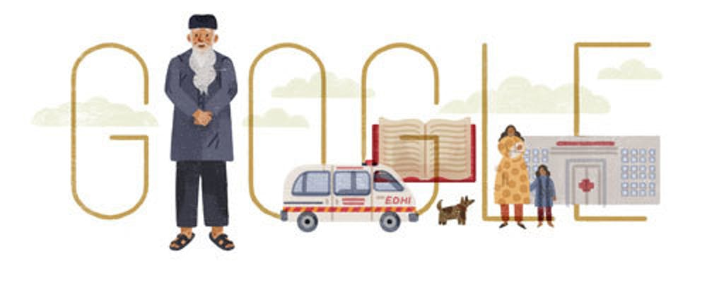 On Tuesday, the Google doodle honored Abdul Sattar Edhi, a Pakistani philanthropist.