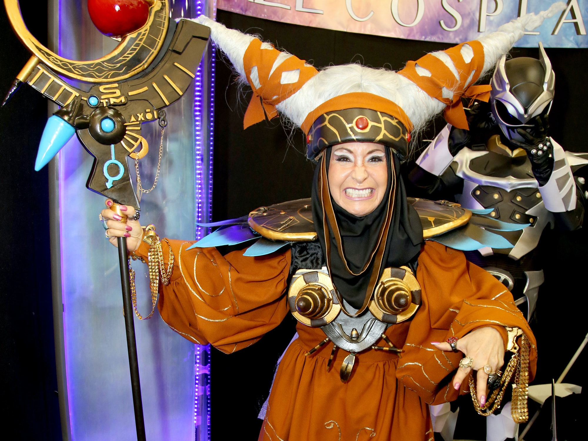 A Rita Repulsa cosplayer at the 2014 Power Morphicon at the Pasadena Convention Center in California. The convention returned two years later in 2016.