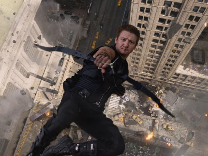 Jeremy Renner as Clint Barton, a.k.a. Hawkeye in 'The Avengers' (2012)