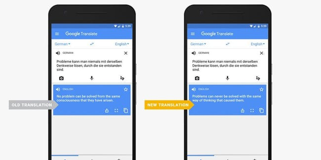 The new google translate apps ai can read whole sentences inverse the new google translate app can read whole sentences stopboris Choice Image