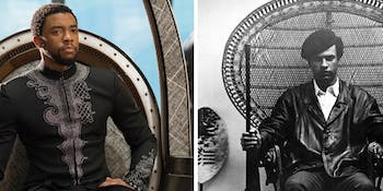 'Black Panther'; Black Panther Party Co-Founder Huey P. Newton