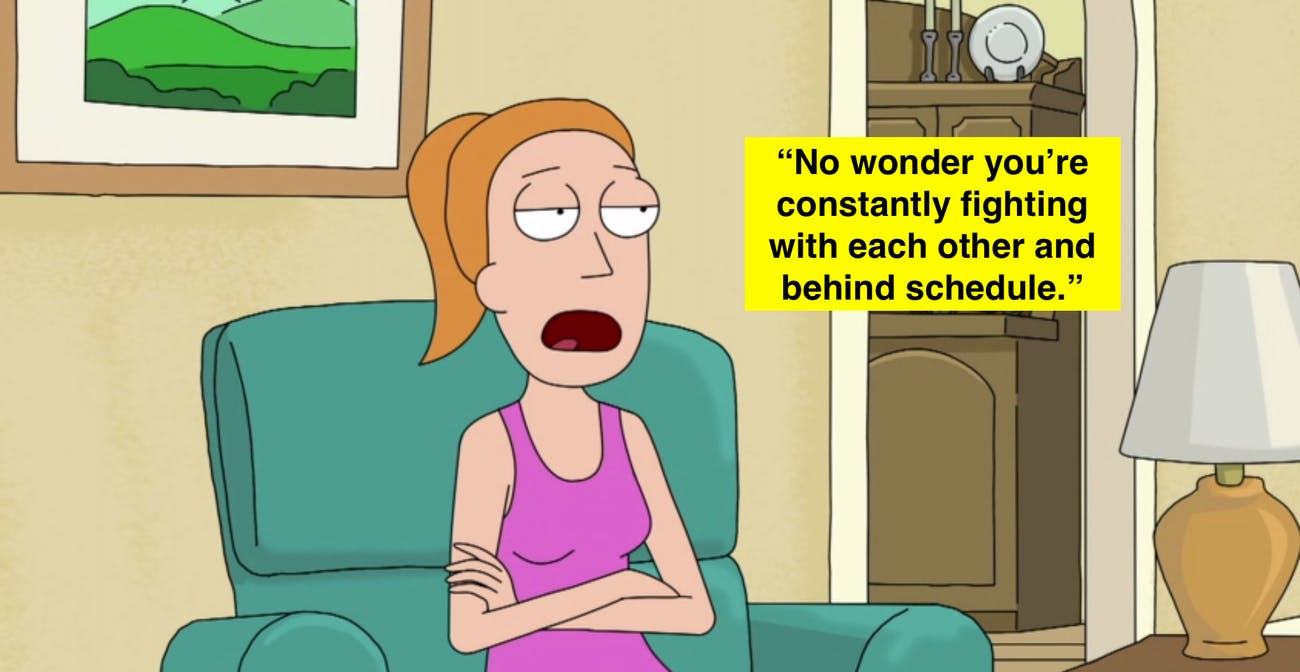 Summer's jab at 'Rick and Morty' is the creators' latest troll to fans.