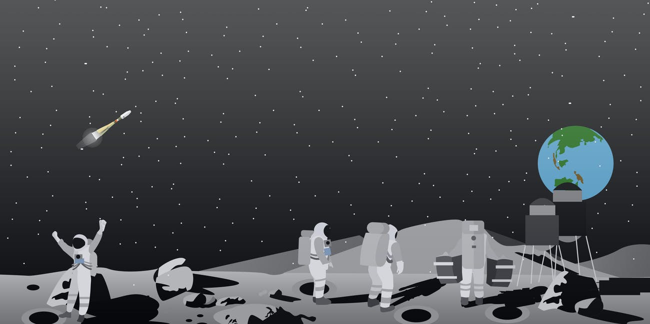space travel moon