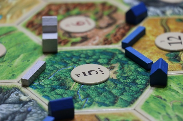 Settlers of Catan is a strategy board game where players compete for resources.