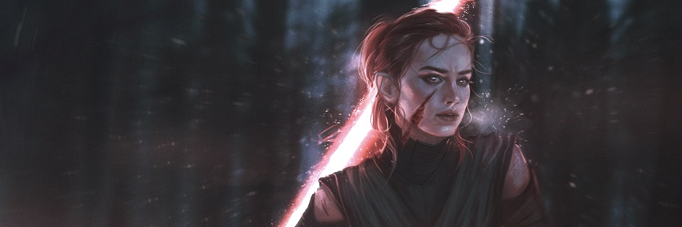 """""""Knight of Rey"""" fan art by withoutafuss via deviant art."""