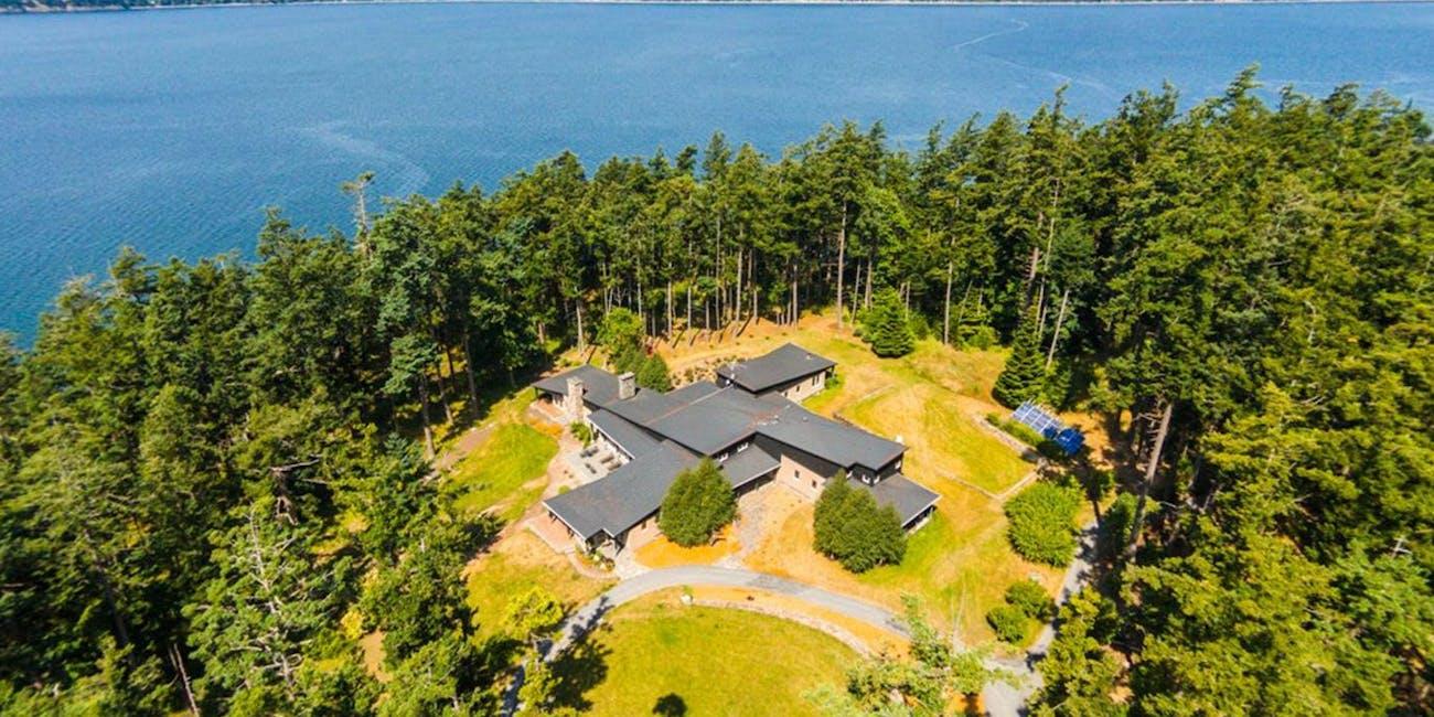 Trump Island off the coast of Washington photo