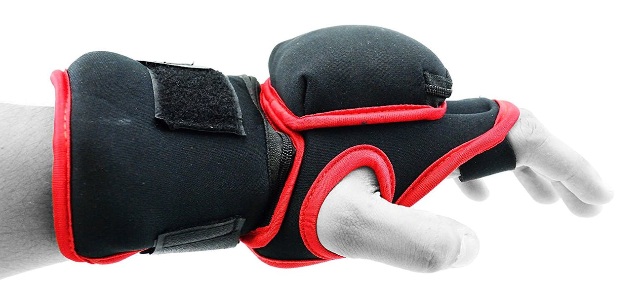 Get weighted gloves more like this rather than traditional boxing gloves.