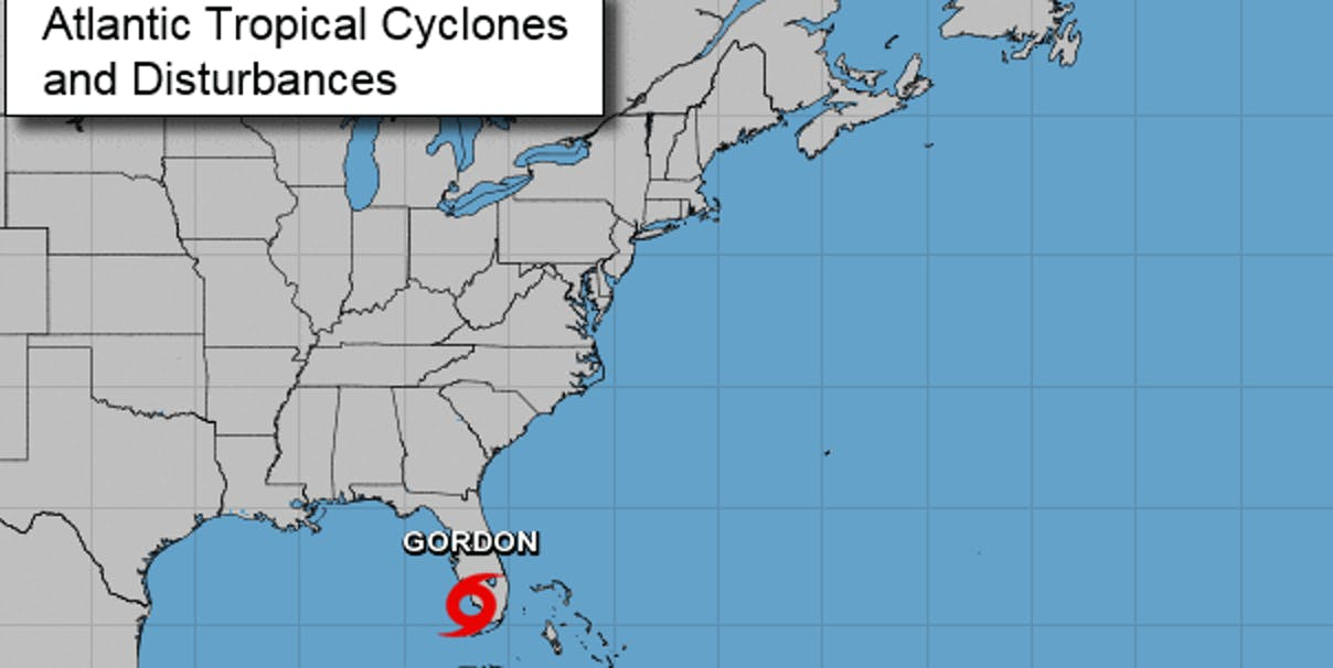 tropical cyclones gordon