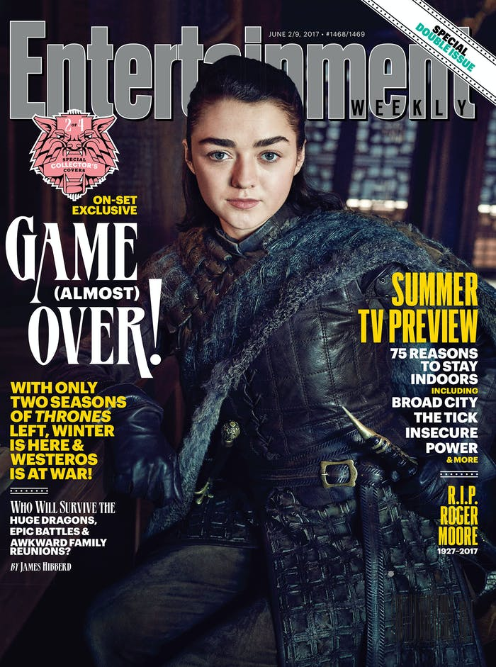 You can clearly see Needle, which means that must be the catspaw dagger on Arya's left hip.