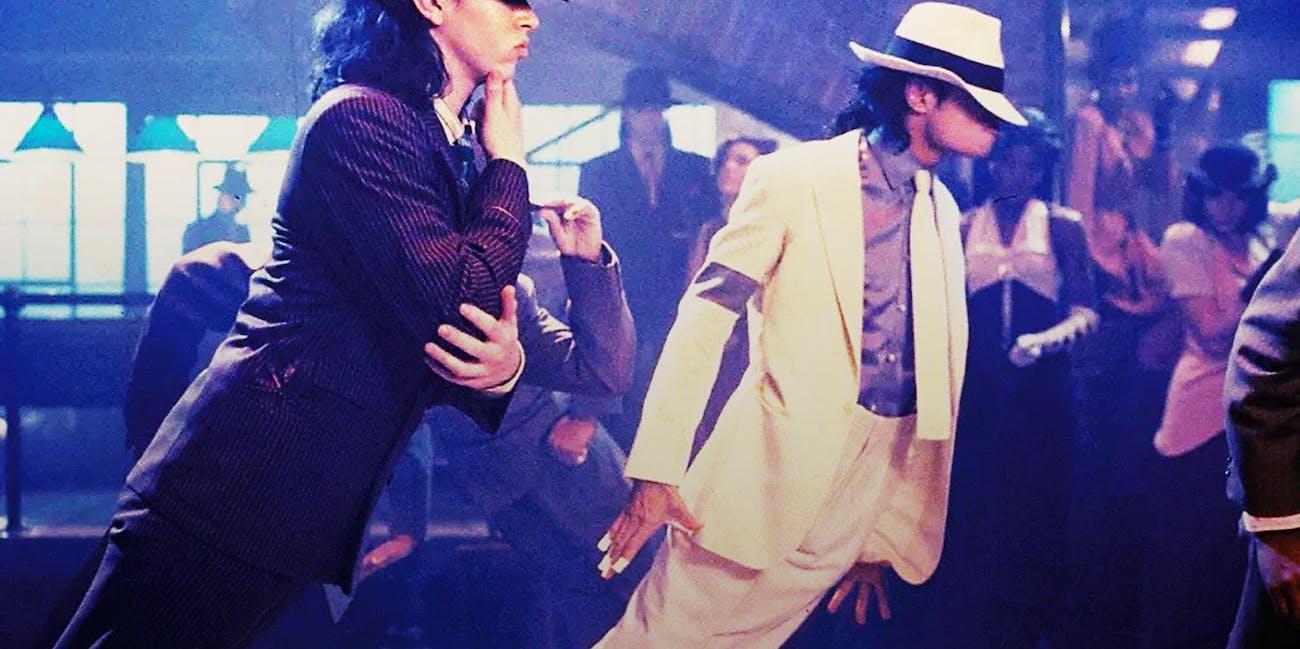 Michael Jackson's famous anti-gravity lean.