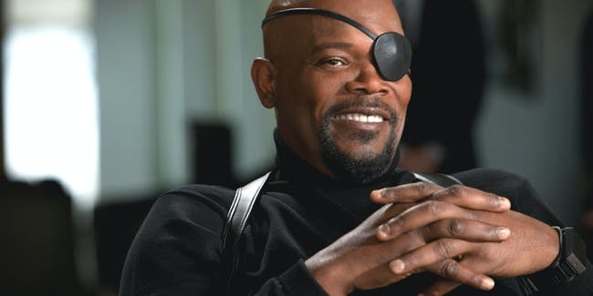 Samuel L. Jackson as Nick Fury in the Marvel Cinematic Universe