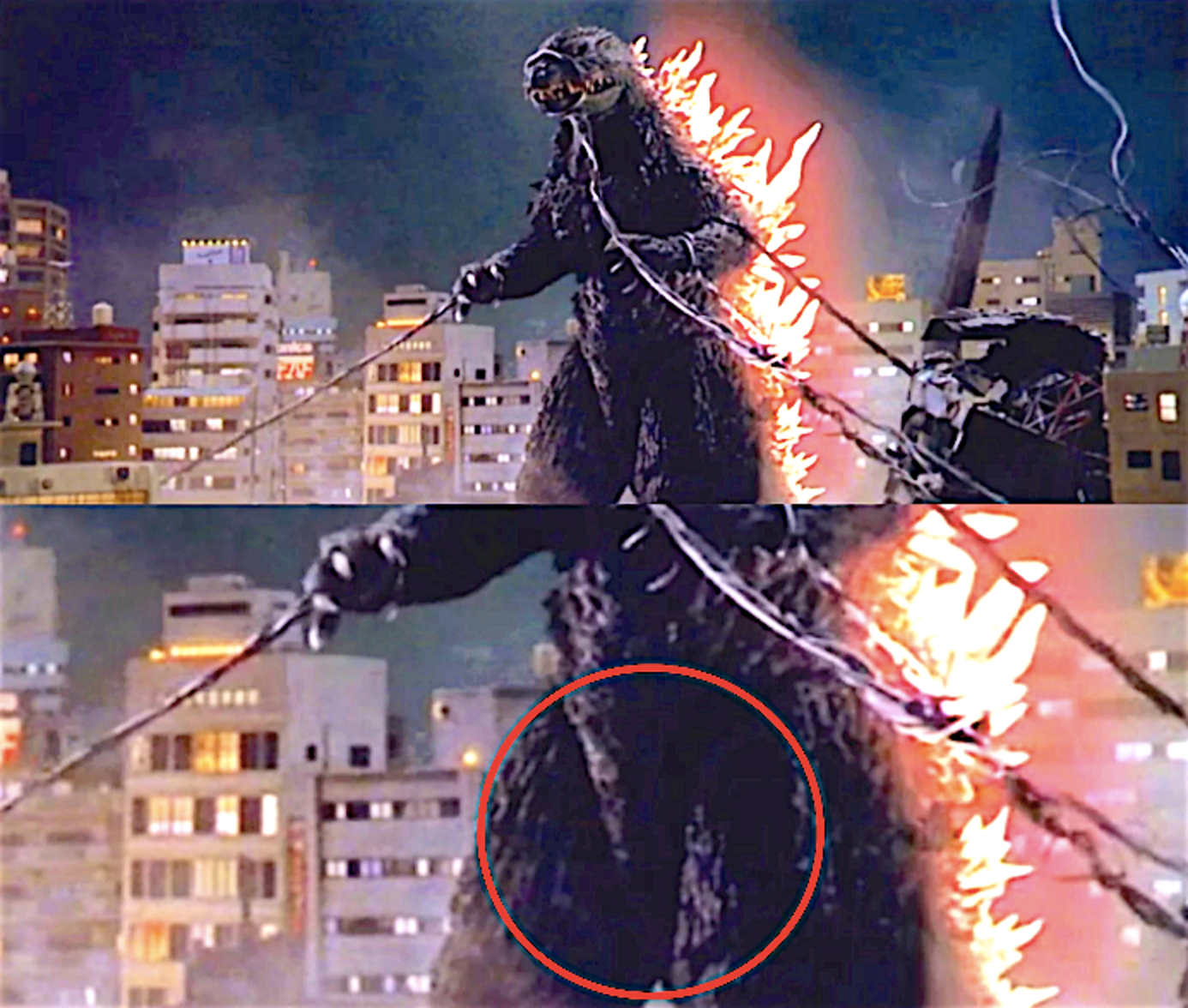 Do you see it? (From: 'Godzilla 2000')