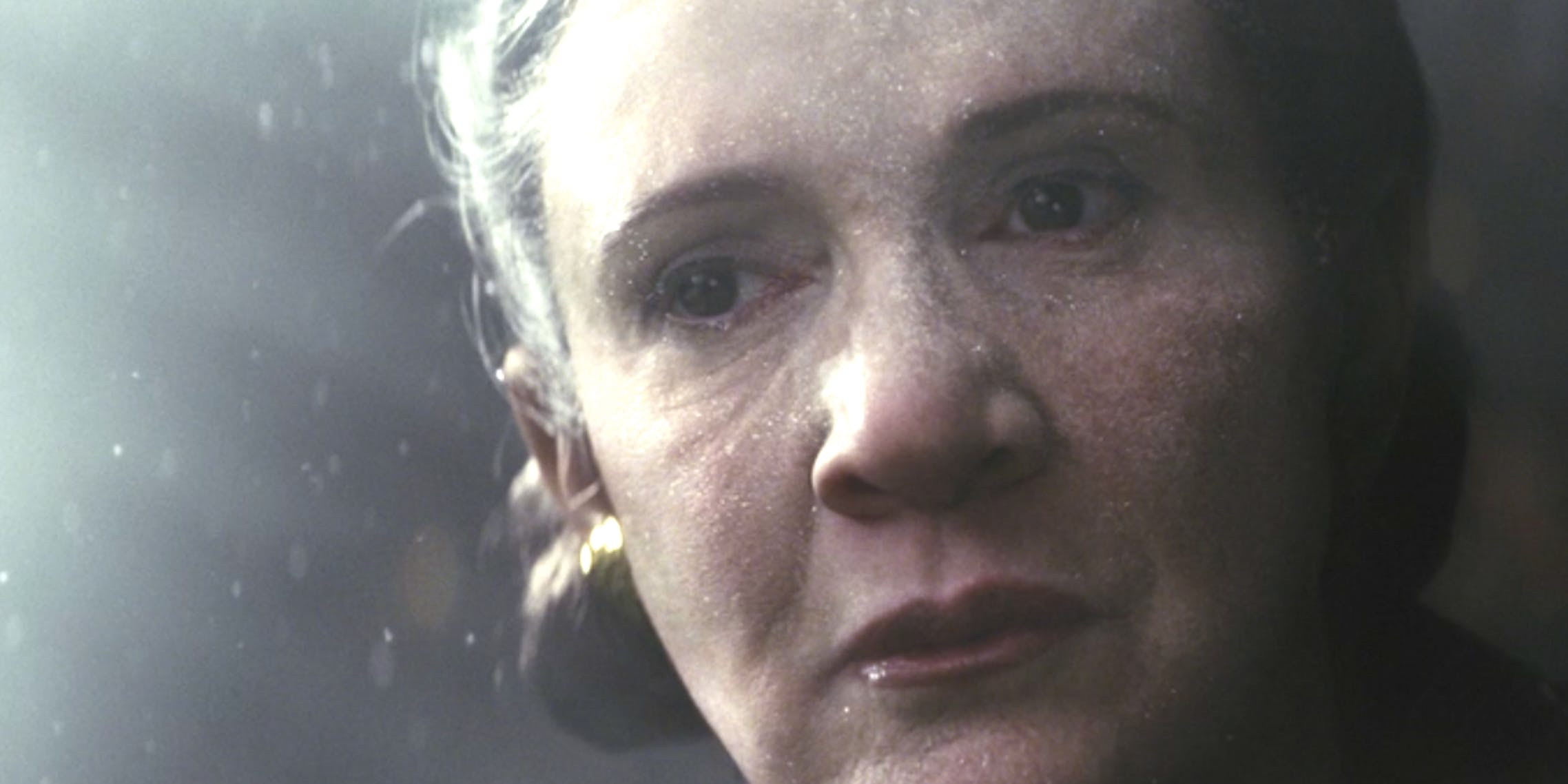 Leia (Carrie Fisher) in space in 'The Last Jedi'