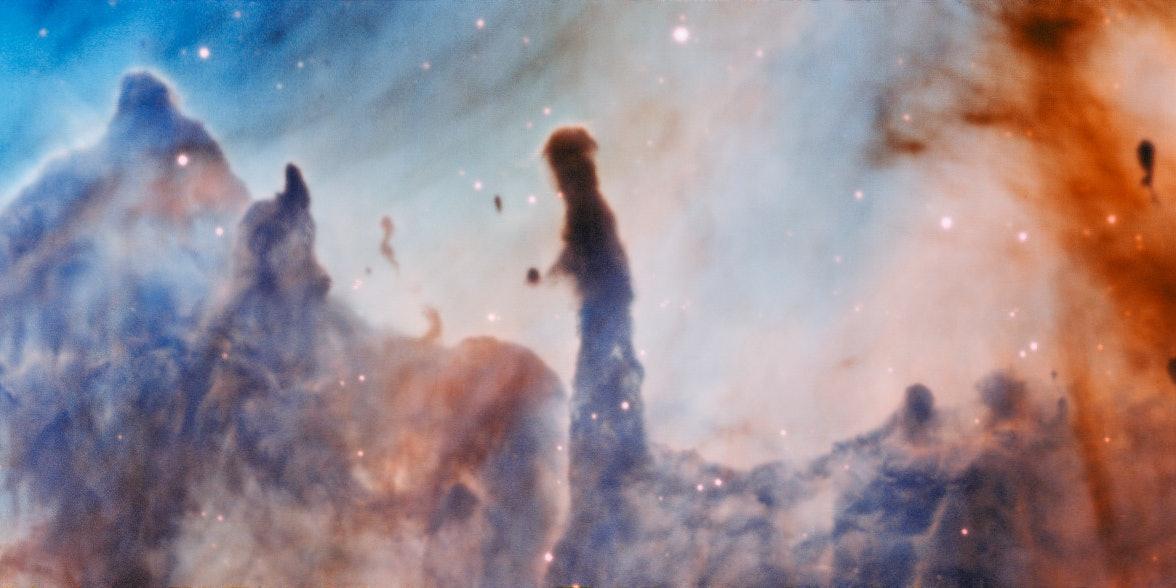 "The ""Pillars of Destruction"" in Carina Nebula."