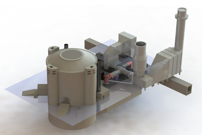 firebrick thermal storage system