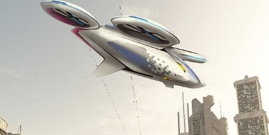 An artist rendering of the future Air Bus