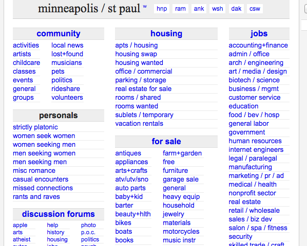 Craigslist minneapolis st paul mn