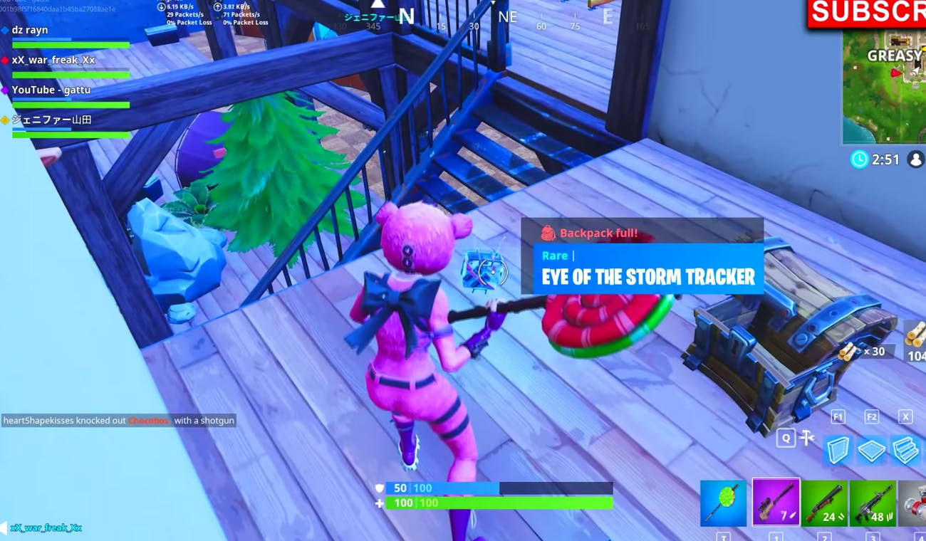 fortnite eye of the storm tracker backpack how and why to get it - fortnite what is the storm