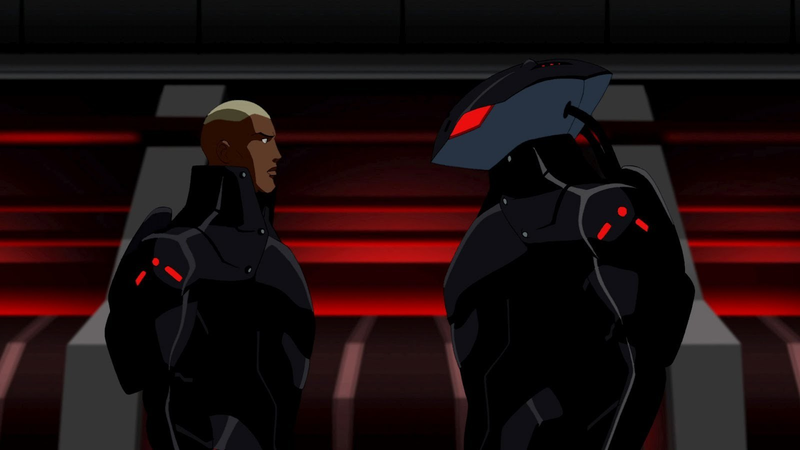Aqualad confronts his biological father, Black Manta.