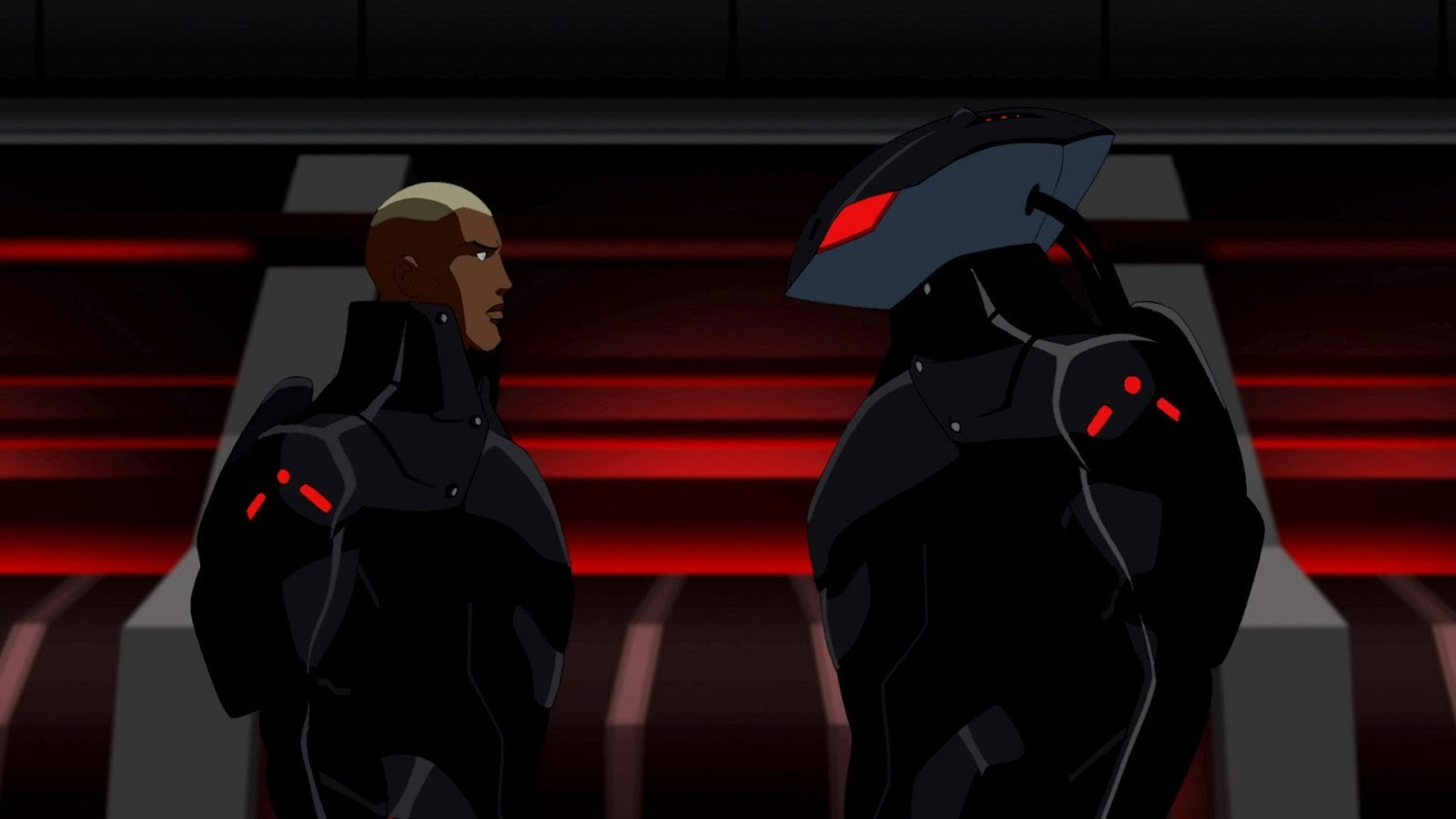 Aqualad confronts his biological father, Black Manta.