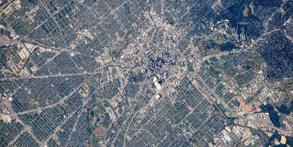 San Antonio looks good from space, the future.