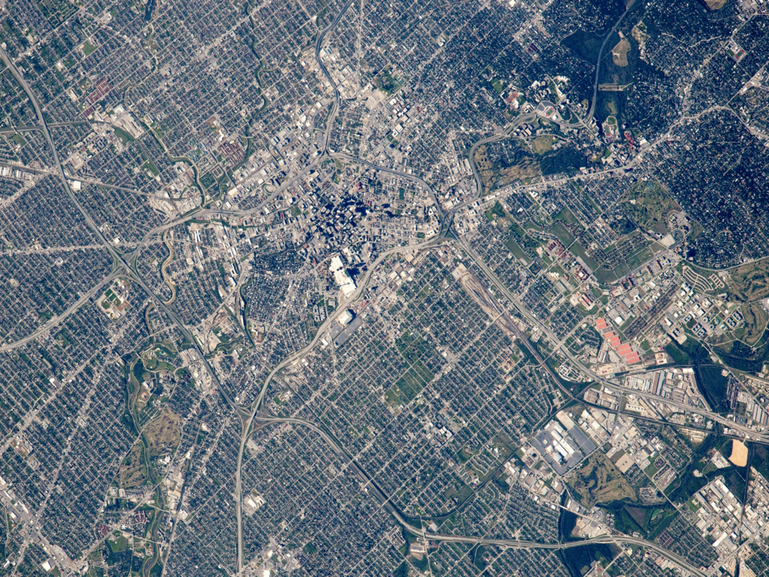 San Antonio looks good from space, the future.