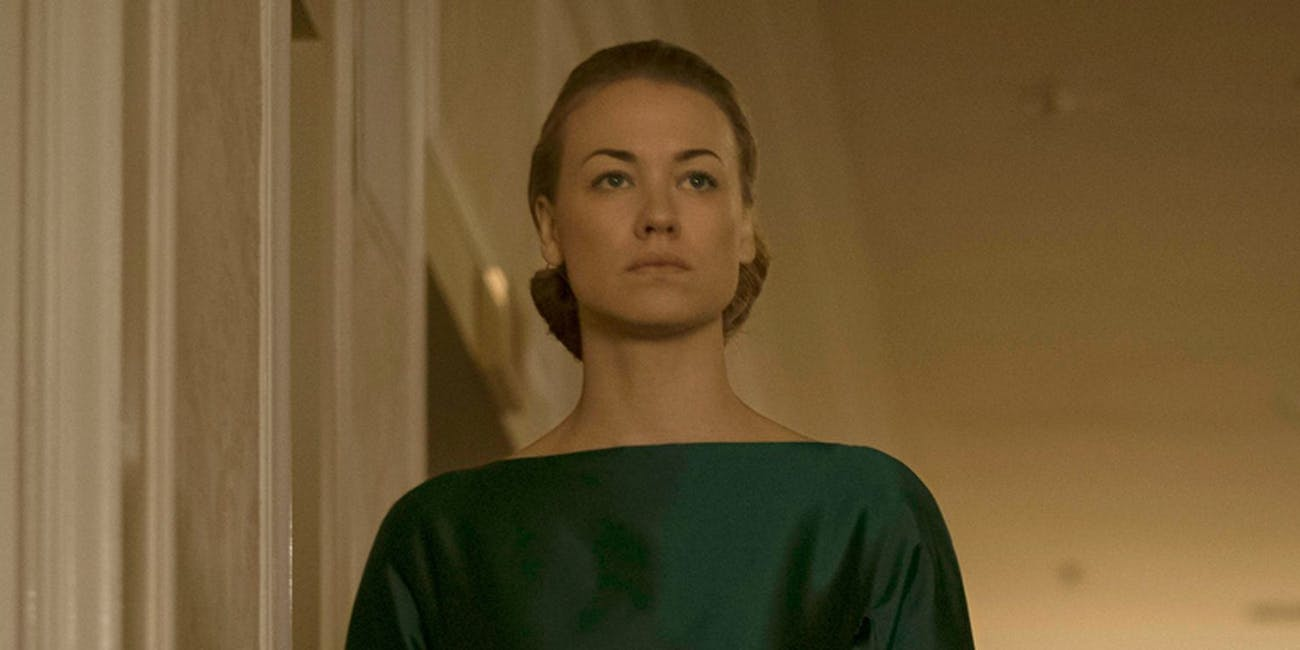 Yvonne Strahovski as Mrs. Waterford.