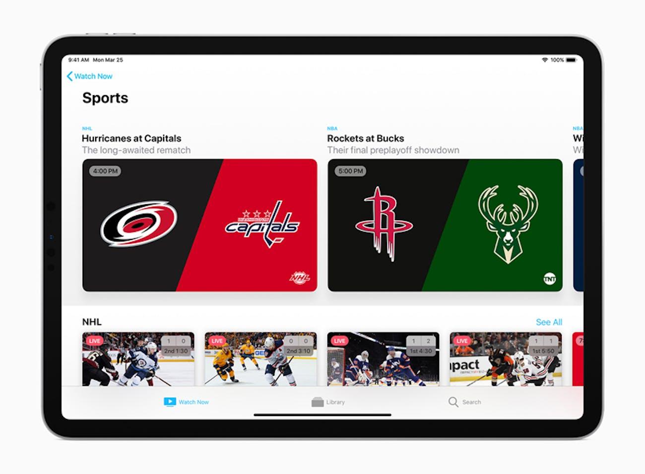 apple tv sports channels
