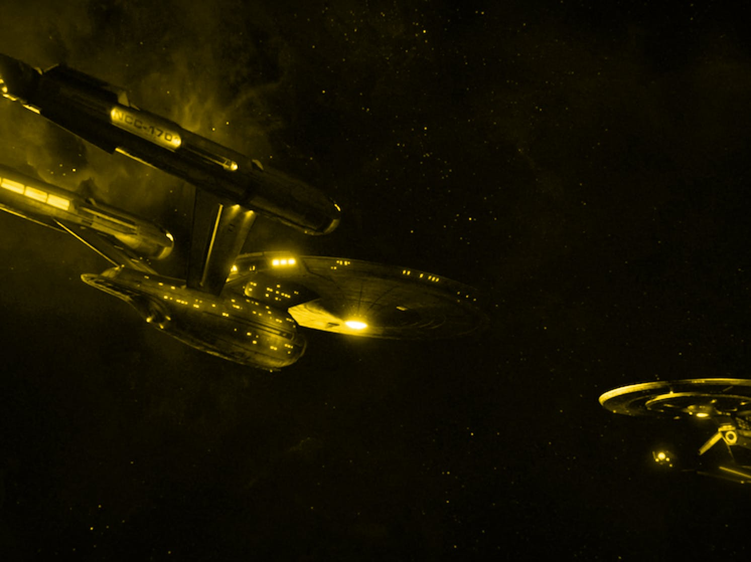 The original USS Enterprise in 'Star Trek'