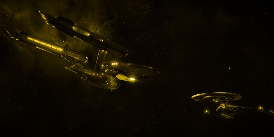 The original USS Enterprise in 'Star Trek'