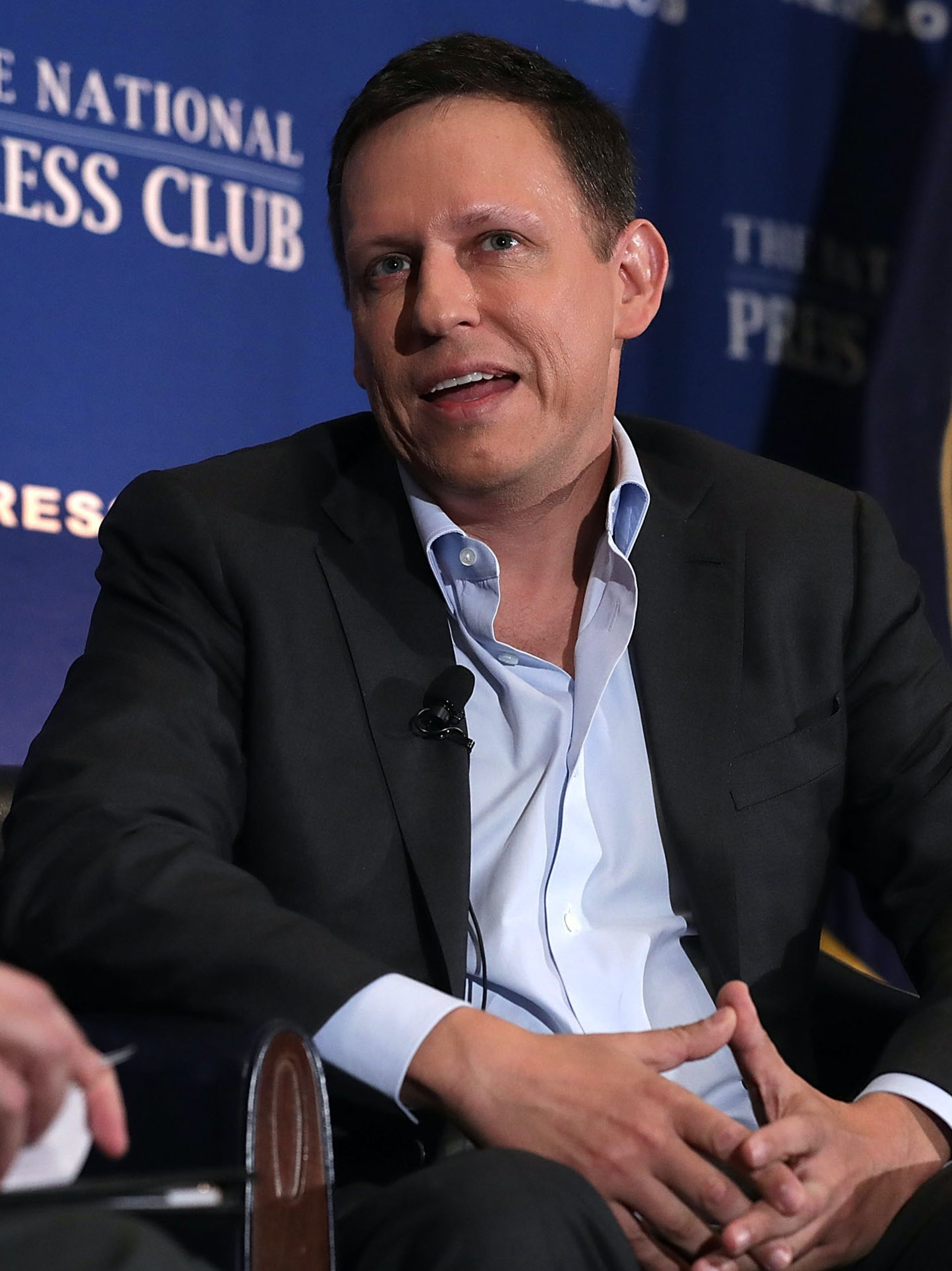 WASHINGTON, DC - OCTOBER 31:  Entrepreneur Peter Thiel participates in a discussion at the National Press Club on October 31, 2016 in Washington, DC. Thiel discussed his support for Republican presidential nominee Donald Trump.  (Photo by Alex Wong/Getty Images)
