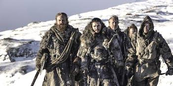 "Tormund, Jon Snow, Jorah Mormont, Thoros of Myr, and Gendry on 'Game of Thrones' Season 7 episode 6 ""Beyond the Wall"""