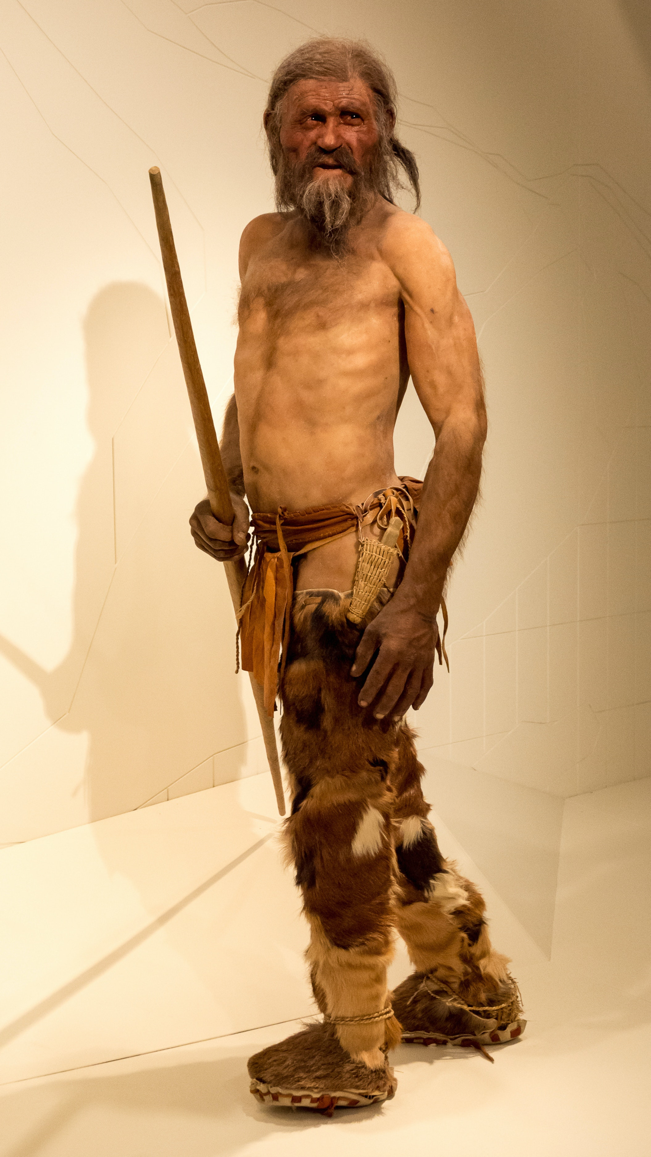 Otzi Iceman restoration clothing.