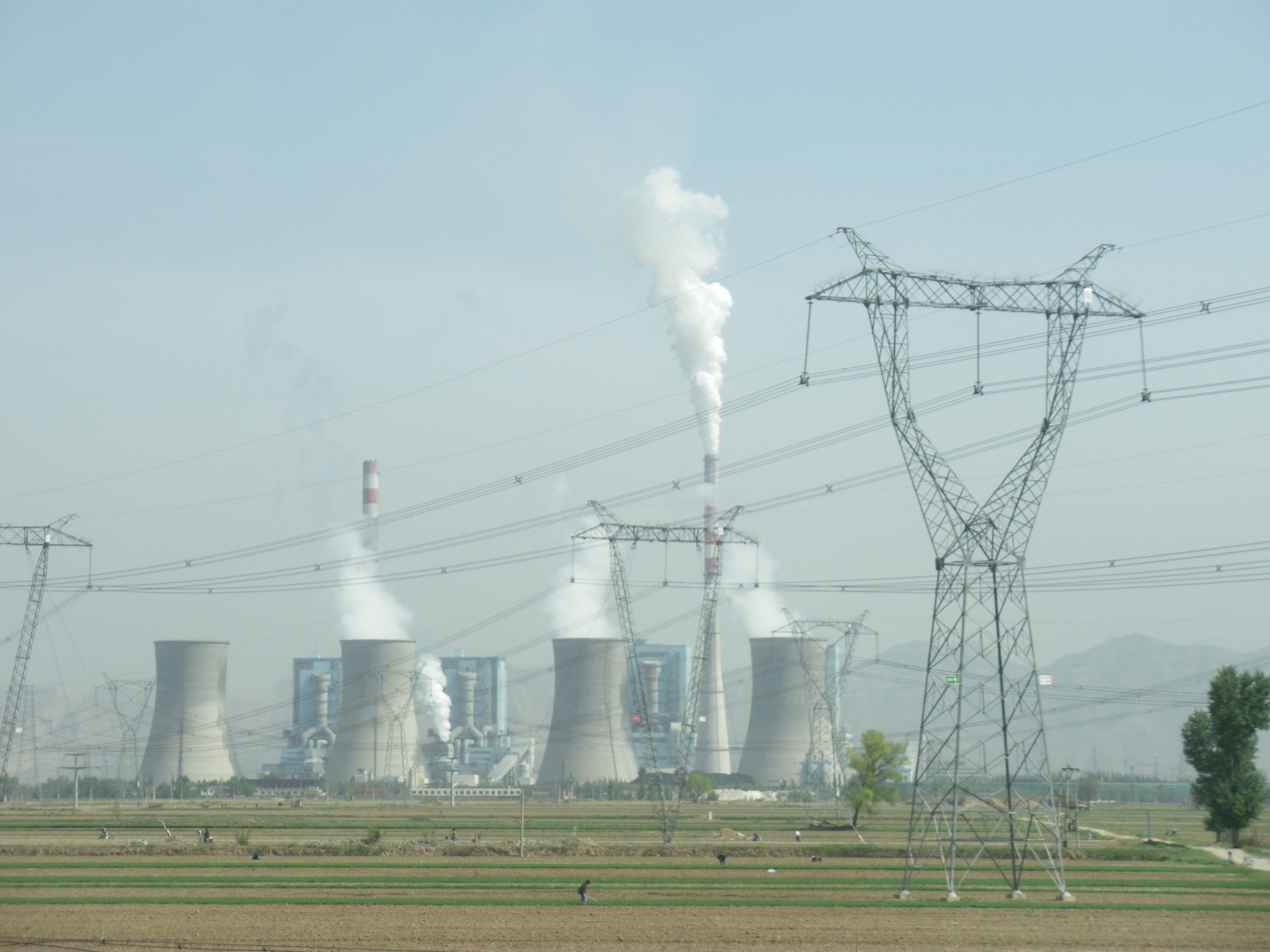 Photo of a coal-fired power plant in Shuozhou, Shanxi, China