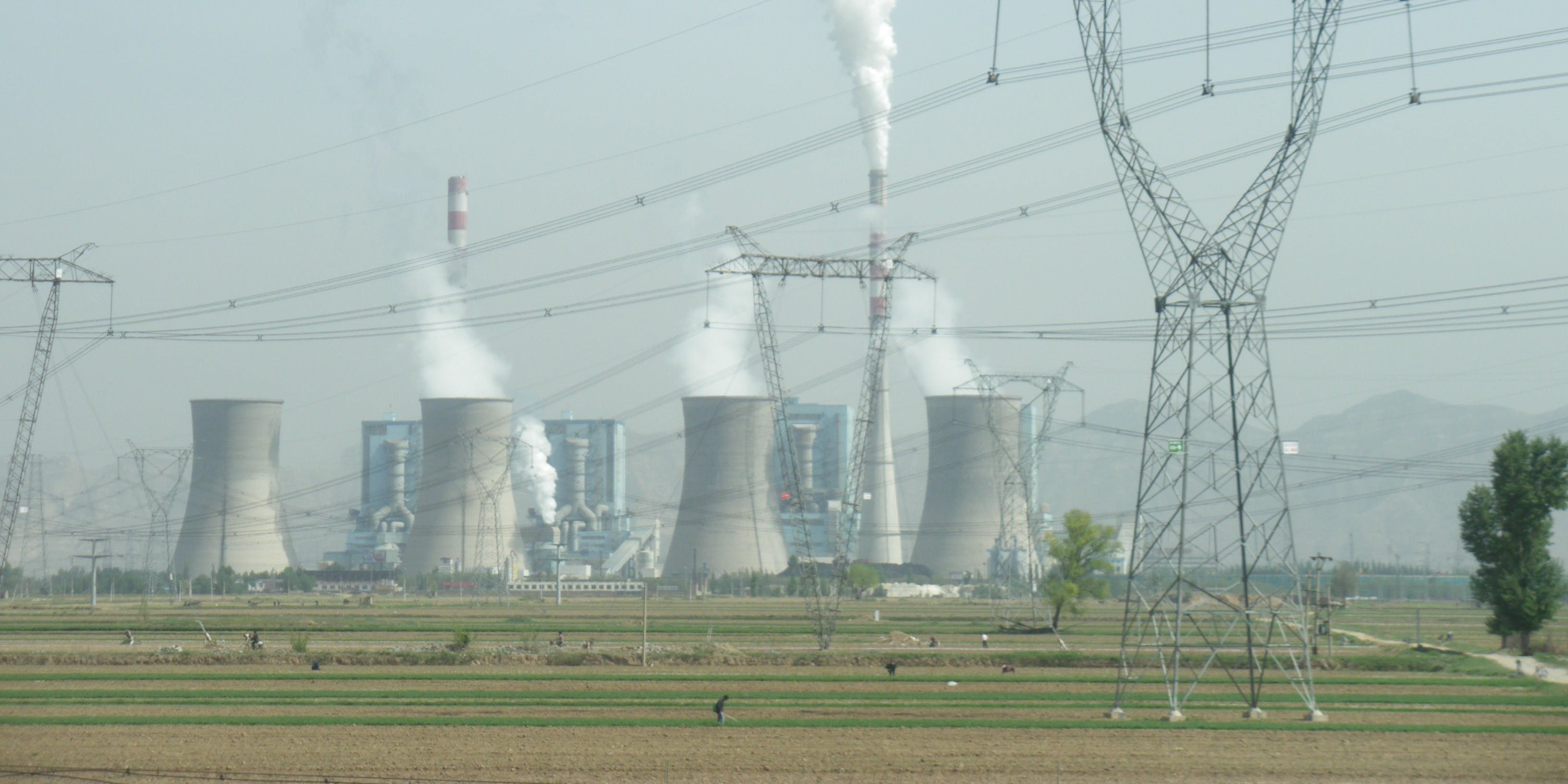 Photo of a coal-fired power plant in Shuozhou, Shanxi, China