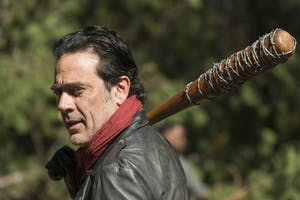Jeffrey Dean Morgan as Negan in the season 7 finale of 'The Walking Dead'