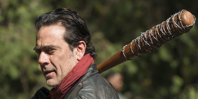Jeffrey Dean Morgan as Negan in the season 7 finale of 'The Walking Dead'