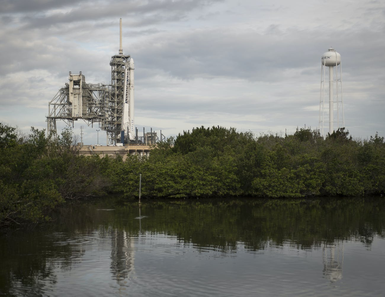 CAPE CANAVERAL, FL - JUNE 03: In this handout provided by the National Aeronautics and Space Administration (NASA), the SpaceX Falcon 9 rocket, with the Dragon spacecraft onboard, is seen at Launch Complex 39A at NASA's Kennedy Space Center on June 3, 2017 in Cape Canaveral, Florida. Dragon is carrying almost 6,000 pounds of science research, crew supplies and hardware to the International Space Station in support of the Expedition 52 and 53 crew members. The unpressurized trunk of the spacecraft also will transport solar panels, tools for Earth-observation and equipment to study neutron stars. This will be the 100th launch, and sixth SpaceX launch, from this pad. Previous launches include 11 Apollo flights, the launch of the unmanned Skylab in 1973, 82 shuttle flights and five SpaceX launches. (Photo by Bill Ingalls/NASA via Getty Images)