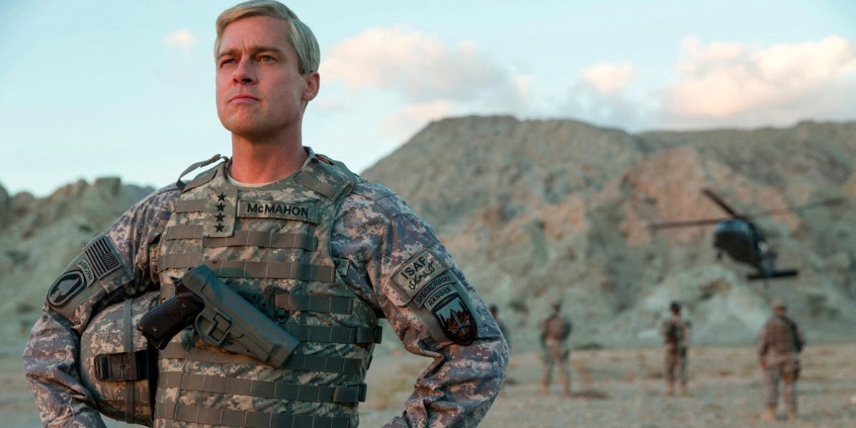 Brad Pitt in 'War Machine'