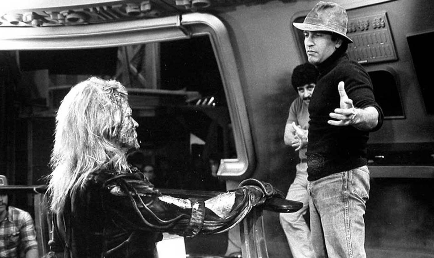 Nick Meyer directs Ricardo Montalban in 'The Wrath of Khan.'