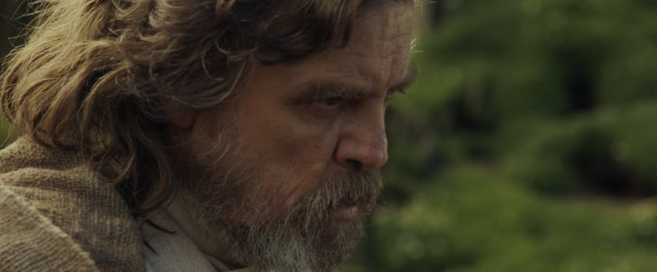 Luke Skywalker's dialogue in 'The Last Jedi' will be better than this.