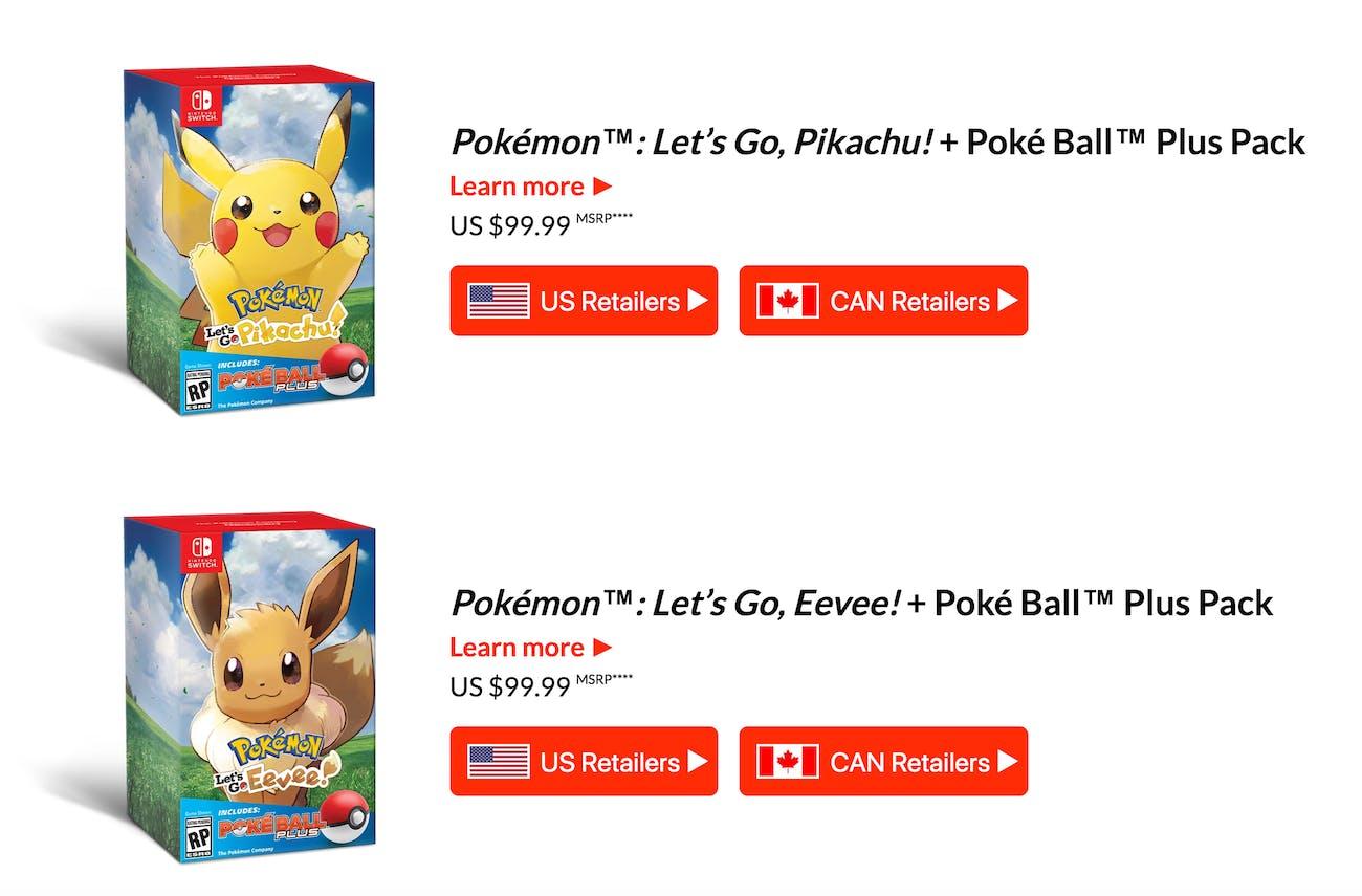 pokemon lets go switch bundle